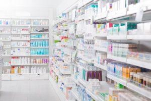 A drugstore aisle.